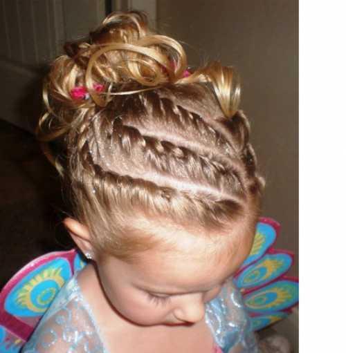 Праздничные причёски для девочек фото: виды