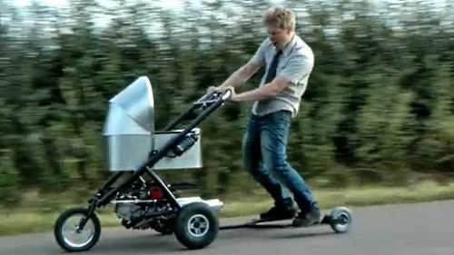 Инженер изобрёл детскую коляску, которая