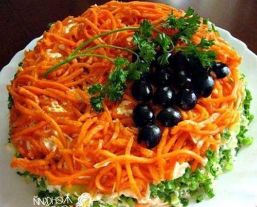 Рецепты салатов с морковью и колбасой, секреты