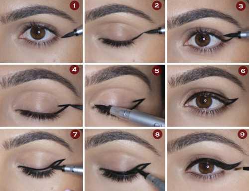 Как правильно рисовать стрелки на глазах,