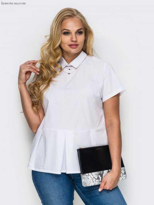 Стильная белая блузка