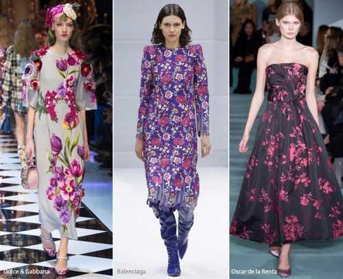 Модный цветочный принт 2017 в одежде