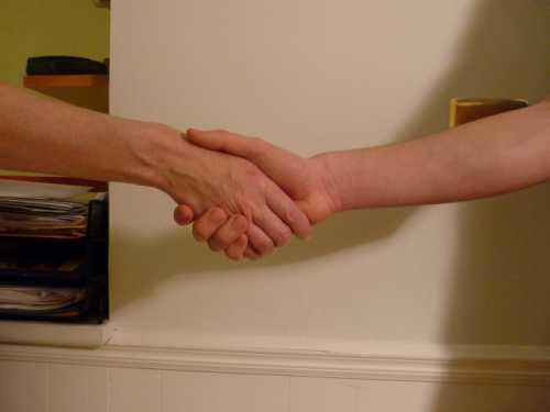 Поднимайте руку, чтобы ладонь была на уровне ваших глаз, и опускайте медленно ее до пояса