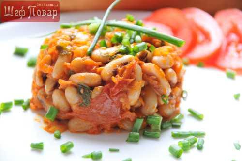 Быстрые рецепты Фасоль с овощами