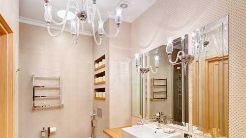 Люстра в ванную комнату на потолок