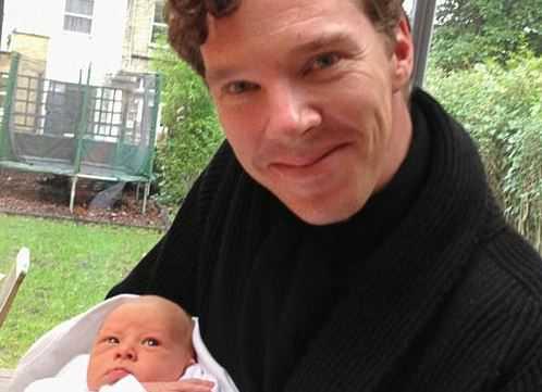 Бенедикт Камбербэтч и его сын