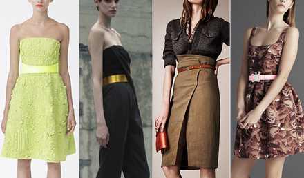 Модные женские ремни 2014