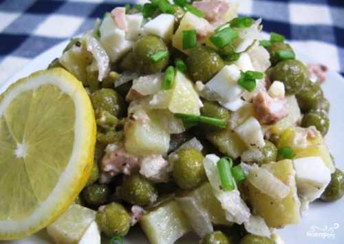 Быстрые салаты Салат из печени трески