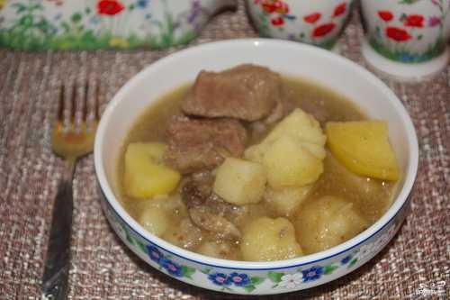 Картошка с мясом и грибами